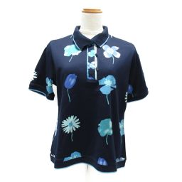 LEONARD SPORT レオナールスポーツ ポロシャツ ネイビー コットン 【中古】【ランクA】 レディース