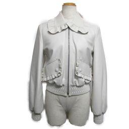 FENDI フェンディ レザージャケット オフホワイト 羊革(ラム) 【中古】【ランクB】 レディース