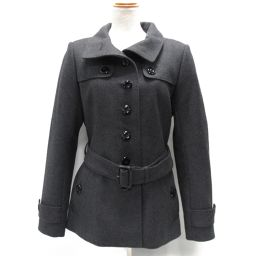 BURBERRY Burberry Coat Gray Wool (73%) x Nylon (27%) [Used] [Rank A] Lady