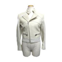 BALENCIAGA バレンシアガ ジャケット アイボリー×ホワイト 羊革(ラム) ×牛革 【中古】【ランクA】