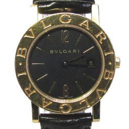 BVLGARI ブルガリ ブルガリ ブルガリ 腕時計 ウォッチ BB26 GL ブラック レザーベルト  x K1