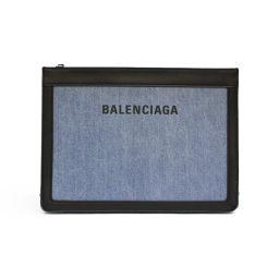 BALENCIAGA バレンシアガ クラッチ セカンドバッグ ショルダーバッグ 339937  ブルー ブラック