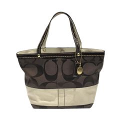COACH Coach Tote Bag 10123 Brown x Beige Canvas [Used] [Rank A] Ladies