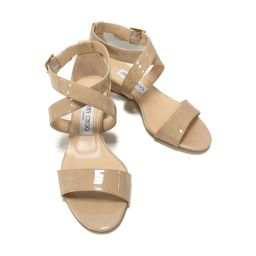JIMMY CHOO Sandals Beige Enamel [Used] [Rank B] Ladies