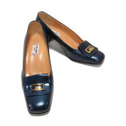 CELINE Celine Pumps Blue Leather [Used] [Rank B] Ladies