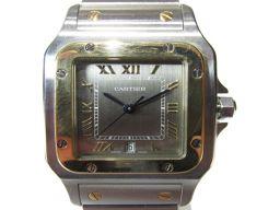 Cartier カルティエ サントス ガルベLM 腕時計 ウォッチ W2001C4 シルバー ステンレススチール(