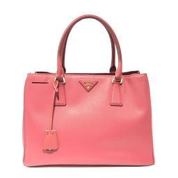 PRADA Prada Tote Bag BN1874 TAMARIS Pink Saffiano Leather [Used] [Rank B]