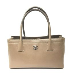 CHANEL Chanel Executive Tote Tote Bag Beige Leather [Used] [Rank A] Ladies