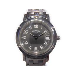 HERMES エルメス クリッパー 腕時計 ウォッチ CL4.210 シルバー ステンレススチール(SS) 【中古