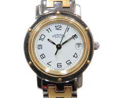 HERMES エルメス クリッパーコンビ ウォッチ 腕時計 CL4.220 シルバー ステンレススチール(SS)