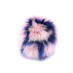 FENDI フェンディ ポンポンチャーム バッグチャーム イニシャル『R』 7AR45R ピンク×ブルー 金具:シ