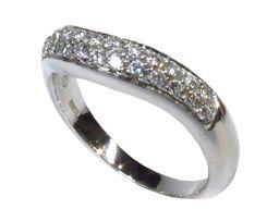 BVLGARI ブルガリ コロナ ウエディングリング 指輪 ダイヤ シルバー PT950 プラチナ 【中古】【ラ