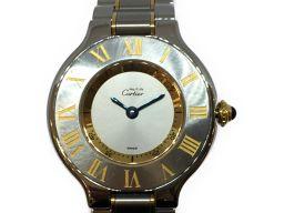 Cartier カルティエ マスト21 腕時計 WATCH 1340 シルバー ステンレススチール(SS) 【中古