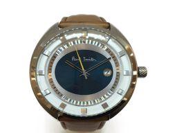 Paul Smith ポール・スミス メンズ腕時計 ウォッチ グリーン ステンレススチール(SS) ×レザーベルト
