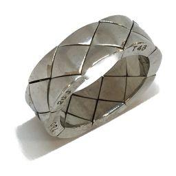 CHANEL シャネル ジュエリー マトラッセリング 指輪 シルバー K18WG(750) ホワイトゴールド 【中