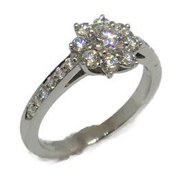 TIFFANY&CO ティファニー ジュエリー フローラ ダイヤモンドリング 指輪 クリアー PT950 プラチナ