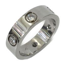 Cartier カルティエ ジュエリー 6Pダイヤモンド ラブリング 指輪 シルバー K18WG(750) ホワイ