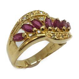 JEWELRY ジュエリー ジュエリー ルビー ダイヤモンド リング 指輪 ピンク K18YG(750) イエロー