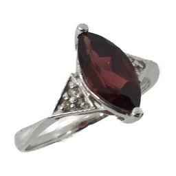 JEWELRY Jewelery Jewelry Garnet Diamond Ring Ring Red K18WG (750) What