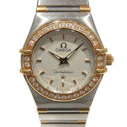OMEGA Omega Constellation Diamond Bezel Watch Watch Silver Stainless Steel (SS) × K