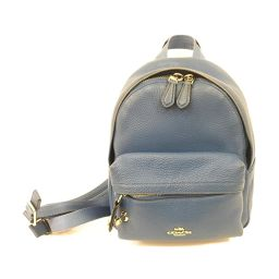 COACH Coach Rucksack Backpack Blue Leather [Used] [Rank B] ​​Ladies
