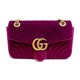 GUCCI Gucci GG Marmont chain shoulder bag 443497 Cassis velor × leather × silk satin (