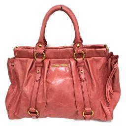 miu miu Miu Miu Shoulder Bag Pink Cowhide (Calf) [Pre] [Rank A] Ladies