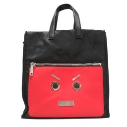 FENDI Fendi Tote Bag Black × Red Nylon × Leather [Used] [Rank B] Men / Lady