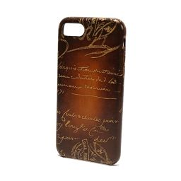 Berlutti Berluti Calligraphy iPhone 7 Case Brown Golden Patine Mens