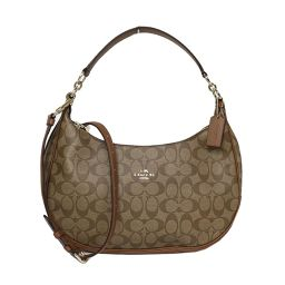 Coach COACH Luxury Signature Harley EW Hobo F 38267 Khaki × Saddle