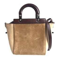 Givenchy GIVENCHY 2 WAY handbag suede beige × brown ladies