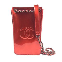 Chanel CHANEL triple phone holder bag A 92304 enamel red ladies