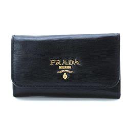 新同 プラダ PRADA 6連 キーケース レザー ブラック 1PG222 【ブランド】★