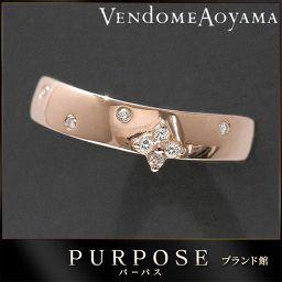 ヴァンドーム青山 Vendome Aoyama ダイヤ リング 12号 K18PG 18金ピンク 【BJ】