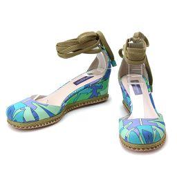 Emilio Petit sandal shoes canvas blue women's [small goods] ★