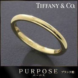 ティファニー TIFFANY&Co. バンド 幅2mm 10.5号 リング  K18YG 【BJ】★