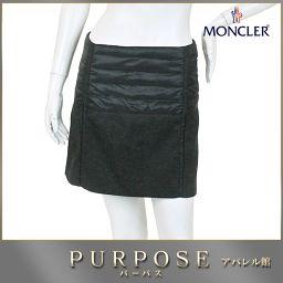 モンクレール MONCLER ダウン スカート ミニ 中綿 グレー サイズ 38 レディース 【アパレル】★