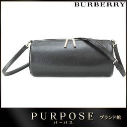 バーバリー BURBERRY 2way ハンド バッグ レザー ブラック 【ブランド】★