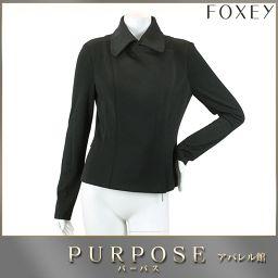 フォクシー ニューヨーク FOXEY NEWYORK ジャケット 長袖 ブラック 黒 サイズ42 レディース 【