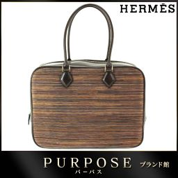 未使用 展示品 エルメス HERMES プリュム 32 ヴィブラート ハンド バッグ チョコ ダークブラウン 【