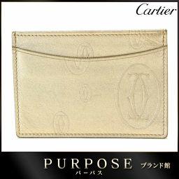 カルティエ Cartier ハッピーバースデー カードケース レザー シャンパンゴールド L3000791 【ブ