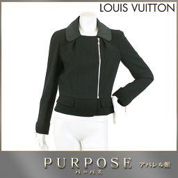ルイヴィトン LOUIS VUITTON ウール ジャケット 長袖 ZIP ブラック サイズ 38 レディース