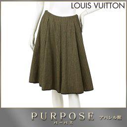 ルイヴィトン LOUIS VUITTON スカート ブラウン サイズ 36 レディース LV 【アパレル】★