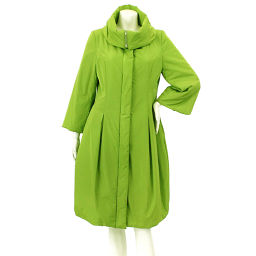 Foxy coat long batting outer green size 42 ladies [apparel] ★