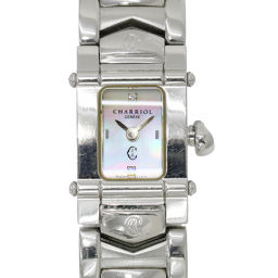 Charioll CHARRIOL Columbus Ladies Watch White Shell Dial Watch [Watch] ★