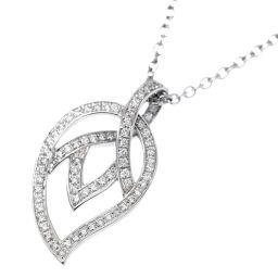 ピアジェ PIAGET リーフモチーフ ダイヤ ネックレス 42cm K18WG 18金ホワイトゴールド 750 【証明書付き】 【BJ】★