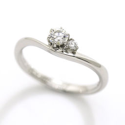 Trecente TRECENTI diamond 0.183ct F / VVS 1 / EX Eterna ring 8.5 Pt ring with platinum [certified with a certificate] [BJ ★