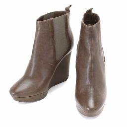 ジミー チュウ ブーティ レザー ショート ブーツ #36 23cm  【小物】★