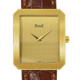 ピアジェ PIAGET プロトコール メカニカル K18YG ボーイズ 腕時計 スクエア ウォッチ 【腕時計】★