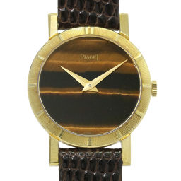 ピアジェ PIAGET ラウンド 手巻き タイガーアイ レディース 腕時計 K18YG ウォッチ 【腕時計】★